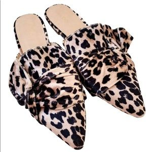 Leopard Cheetah Print Loafer Slides